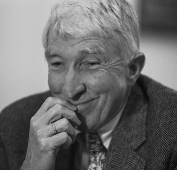 Black and white photograph of John Updike.