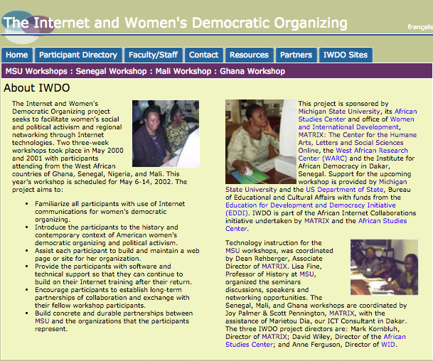 Internet and Women's Democratic Organizing