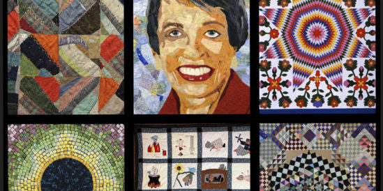 Collage of six different quilts